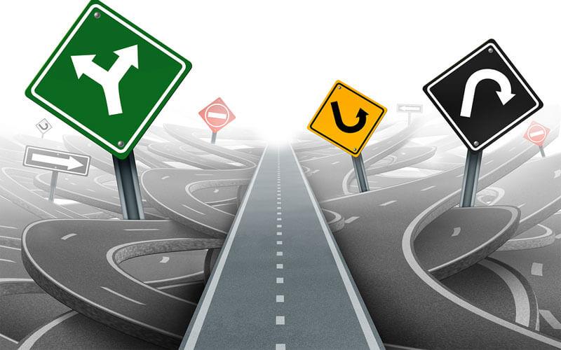 Navigation-Down-Road