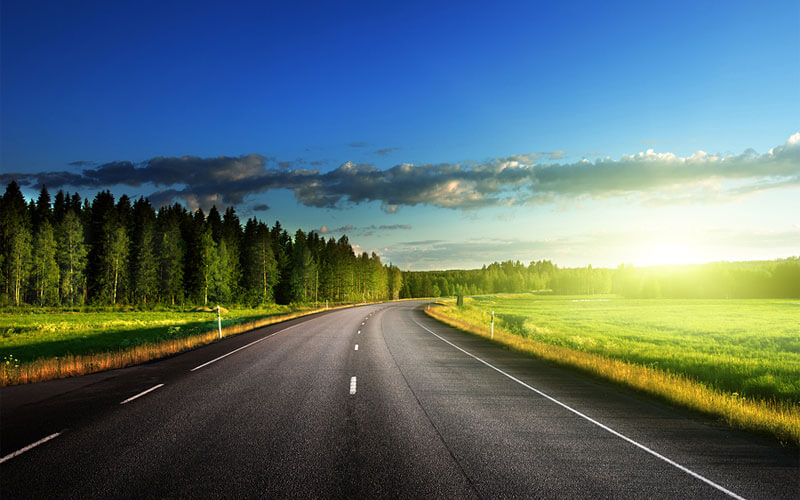 Sunny-Skies-Above-Road