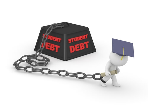 Student loan ball and chain
