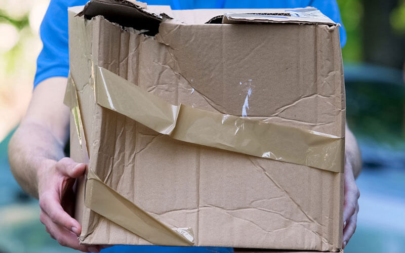 Ripped Cardboard Box