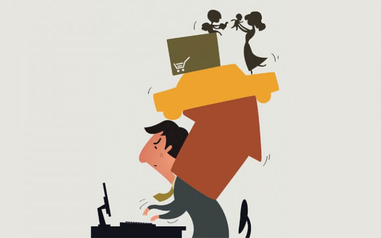 Cartoon-Man-Balancing-Work-and-Family