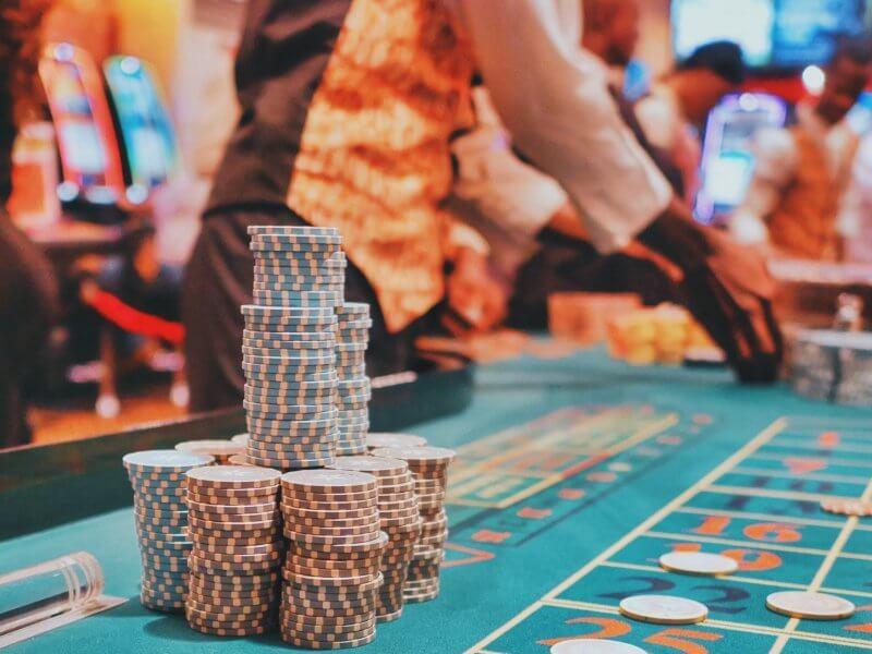 Gambling Table at a Casino